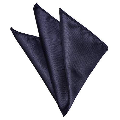 - Mens Pocket Square Charcoal Black Solid Color Handkerchiefs Classic Hanky by YAKEE LEMON, Gray, XX-Large