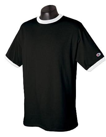 Amazon.com: Champion T1396 5.6 oz. Cotton Tagless Ringer T-Shirt ...