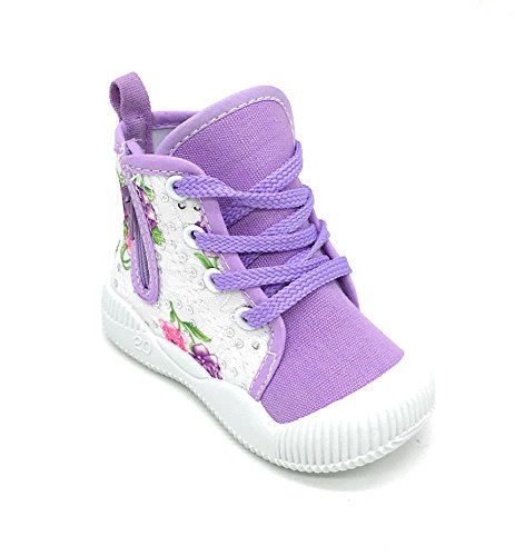 Blue burry Toddler amp; New EASY21 Canvas Sneakers Lavender72 Baby Girls Cute Shoes Infant qOnrwqSda
