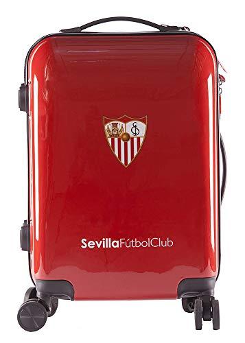 Sevilla Fútbol Club Maleta Equipaje de Mano - Producto Oficial del Equipo, Rígida y con Sistema de Cierre de Seguridad TSA