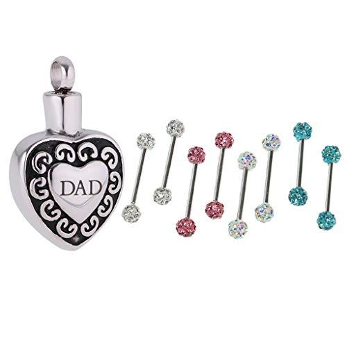 (Trendy Heart Keepsake Pendant + 8Pcs Crystal Ball Nipple Shield Ring Jewelry Necklace Jewelry Crafting Key Chain Bracelet Pendants Accessories Best)