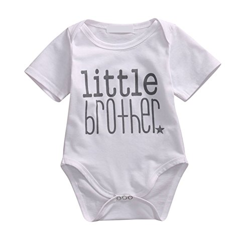 Rush Dance Boutique Newborn Lil Little Brother OR Big Brother Bro Outfit Sets (70 (0-6 Months), Little Brother) -