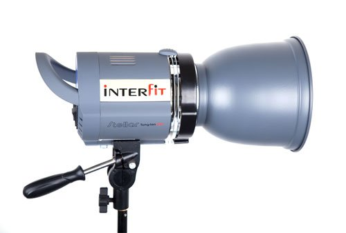 Interfit INT184 Stellar X Tungsten 500 Watt Head with Lamp Not included (White)