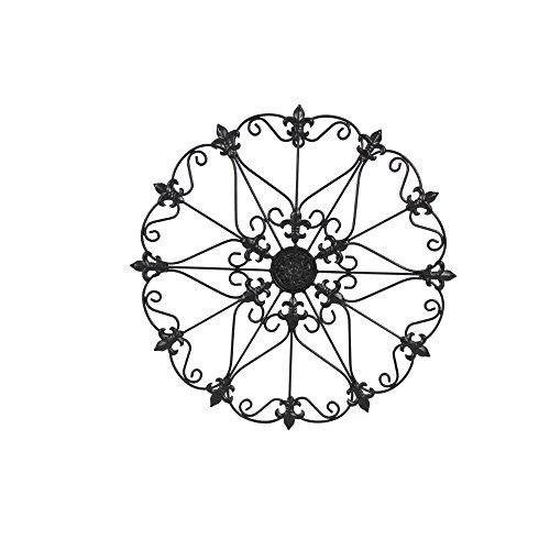 Benzara Metal Wall Medallion Decor with Fleur De Lis Design, ()
