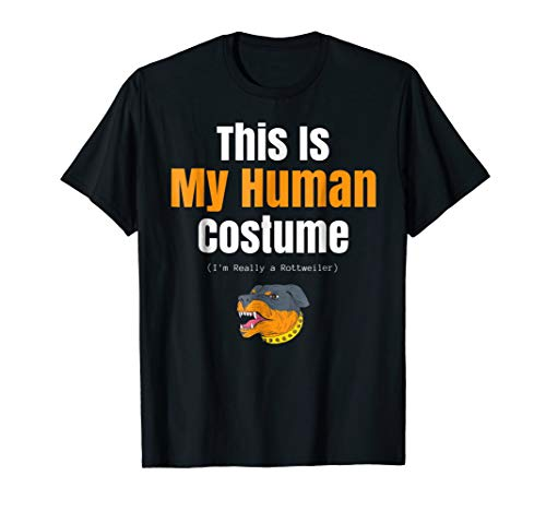 Funny Rottweiler Halloween T Shirt for Human Costume Parties -