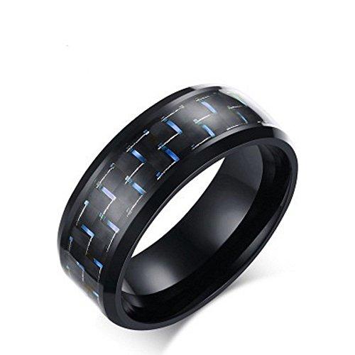 Bague pour hommes bague bijoux Mega K 8MM en acier inoxydable KR2278