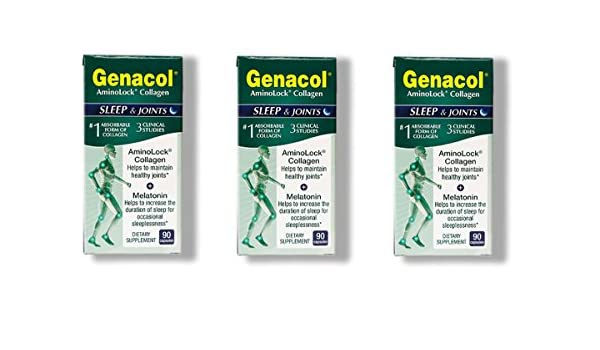 Amazon.com: Genacol -Sleep & Joints (Melatonin + Collagen), 90 Capsules, 3 Pack: Health & Personal Care