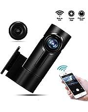 Yakola Upgraded Y6 WiFi-Dashcam Full-HD 360° Fisheye Panorama Mini-1080P AutoKamera mit G-Sensor, HDR,24H Parküberwachung, Loop-Aufnahme, 300° Drehwinkel, Superstar Nachtsicht, IP68 Wasserdicht …