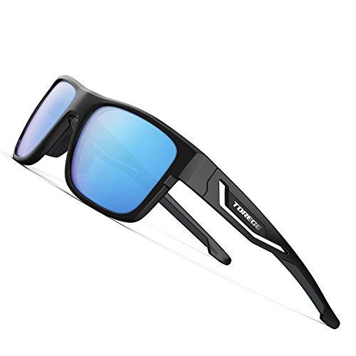TOREGE Polarized Sports Sunglasses for Man Women Cycling Running Fishing Golf TR90 Fashion Frame TR12 Wanderer