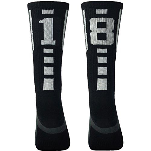 - Sports Soccer Socks for Men, Comifun Unisex Men's Women's Compression Football Soccer Long Stock Socks 1 Pair,Black/White,