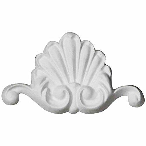 Ekena Millwork ONL03X02X00BO 3''W x 1 3/4''H x 3/8''P Bordeaux Shell Onlay White by Ekena Millwork (Image #4)