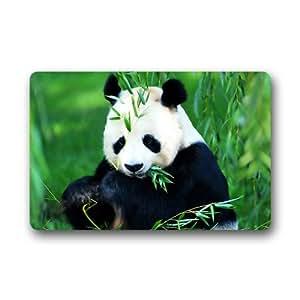 """Panda bambú personalizado máquina lavable puerta alfombrillas para interiores Casa Felpudo 23.6""""L x 15,7"""" W"""