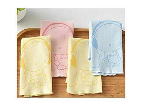 XDXDWEWERT Patrón de 4 Piezas patrón Infantil Toallas de Saliva para bebés Baberos de bebé Baberos