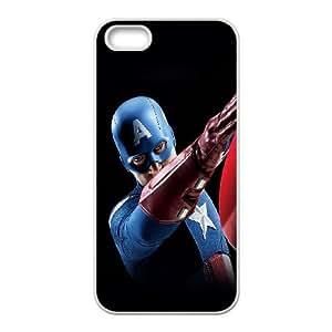 iPhone 5 5s Cell Phone Case White af14 avengers captain america illust art portrait LSO7875046