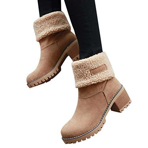 - Memela Ladies Winter Shoes Zipper Short Ankle Winter Snow Boots Snow Boots Short Bootie (Brown, 7.5 M US)