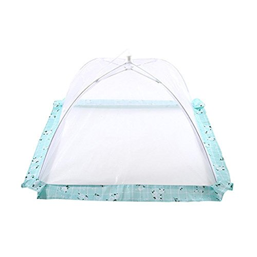 Iusun Food Cover Tent, Umbrella for Outdoors, Food Cover Screen Tents Protectors Collapsible Food Cover For Bugs, Parties, Picnics, Barbecue, Outdoor & Kitchen (Light Blue)
