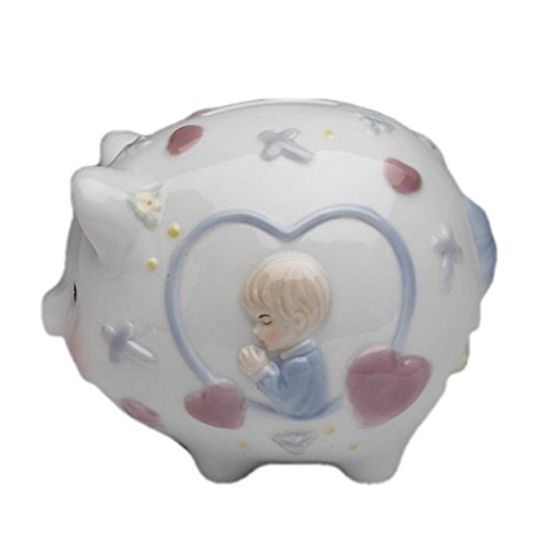 Cosmos 2035 Fine Porcelain Praying Boy Piggy Bank,