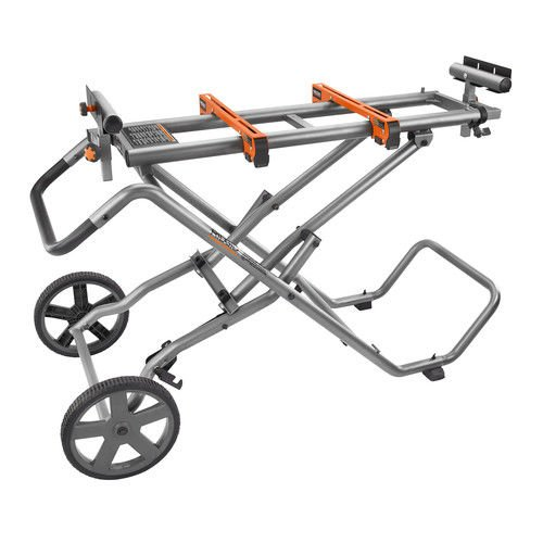 Ridgid ZRAC9946 Mobile Miter Saw Stand with Mounting Braces (Certified Refurbished)