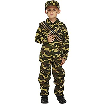 Henbrandt Child Army Military Camouflage Fancy Dress Costume (10-12 years)  sc 1 st  Amazon.com & Amazon.com: Boys Kids Army Uniform War Camouflage Book Day Fancy ...