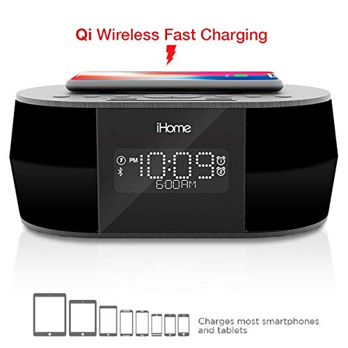 iHOME iBTW38 Wireless Charging Bluetooth Alarm Clock