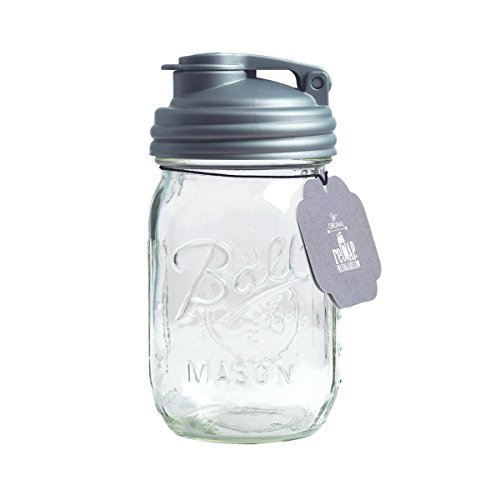 reCAP PJ16-R-SLVR1 Mason Pour Lid & Pint Jar, Pint, Regular Mouth ()