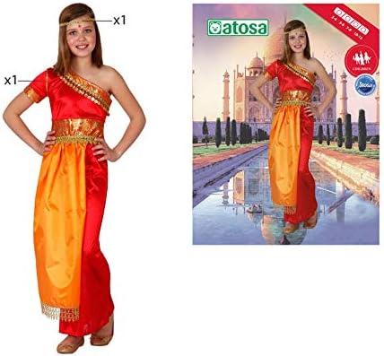 Atosa 8422259158431 - Disfraz hindu para niña, talla 140: Amazon ...