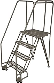 product image for Cotterman TiltNRoll Straddle Ladder - 50in. Max Height, Model Number 4STR26A1E20B8C1P6