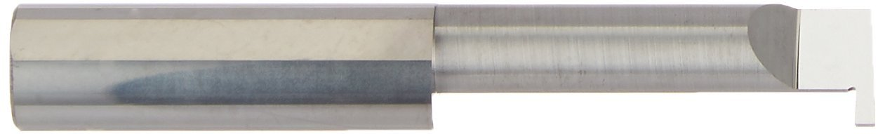 2.5 Overall Length 0.100 Projection Micro 100 RRL-062-20 Left Hand Retaining Ring Grooving Tool 0.375 Minimum Bore Diameter 0.062//0.064 Groove Width 1.250 Maximum Bore Depth Solid Carbide 0.375 Shank Diameter