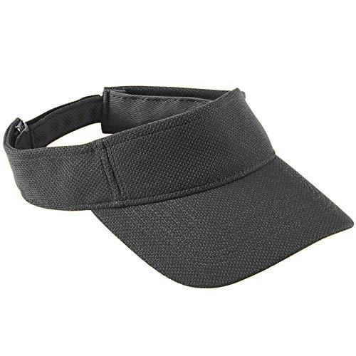 Black Mesh Visor - Augusta Sportswear Kids' Adjustable Wicking MESH Visor OS Black