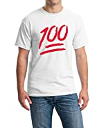 icustomworld 100 Emoji Red Logo T-shirt Funny Cool Gift Shirts