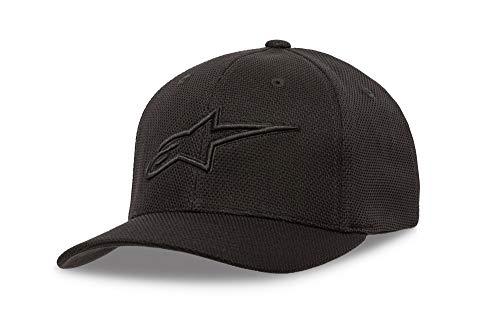 - Alpinestars Men's Logo Flexfit Mock mesh hat Curved Bill, Ageless Black, LXL