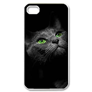 Iphone 4,4S 2D Personalized Phone Back Case with Cat Image