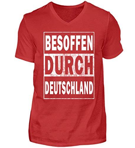 Deutschland durch Red Shirtee Neck Herren Besoffen V PpxqESfxw