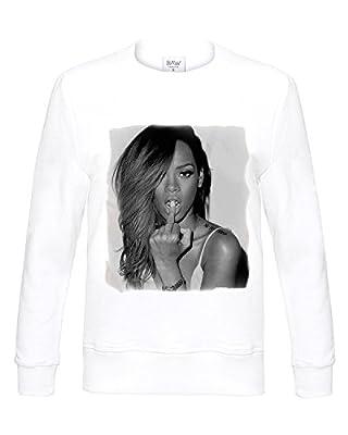 Rihanna Long Sleeve Sweatshirt White