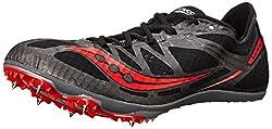 Saucony Men's Ballista Track Spike Racing Shoe, Black/Red, 10.5 M US