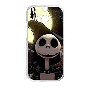 Fashion Funny The Nightmare Before Christmas Custom Cover Case for HTC One M8 (Laser Technology)