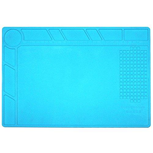 Price comparison product image Repair Mat,  13.4 x 9 inch Heat Insulation Silicone Pad Desk Mat Maintenance Platform BGA Soldering Repair Station with Scale Ruler