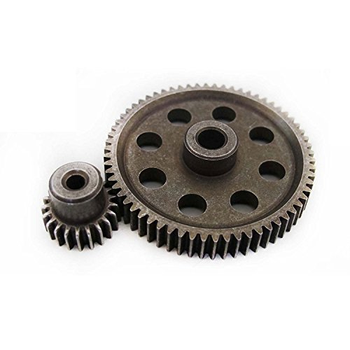 - Hobbypower HSP 11184 & 11181 Differential Metal Main Gear 64t Motor Gear 21t