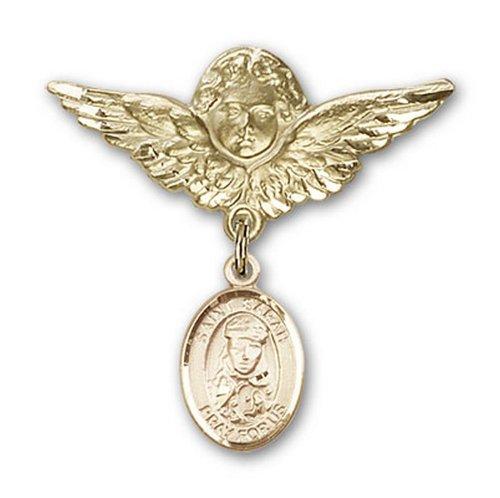 Icecarats Or Bijoux De Créateurs Rempli R. Sarah Charme Ange Broche De Badge 1 1/8 X 1 1/8