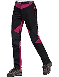 Women Waterproof Trousers Fleece Hiking Climbing Pants Softshell Pants Trekking Pants