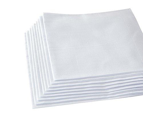 "RDS HANKYTEX Pure White Handkerchiefs 11.5"" …"