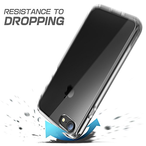 iPhone 7 Hülle, iPhone 8 Hülle, Supcase [Ares] Bumper Hülle Transparent Outdoor Schutzhülle Stoßfest Case Cover mit eingebautem Displayschutz für Apple iPhone 7 / iPhone 8