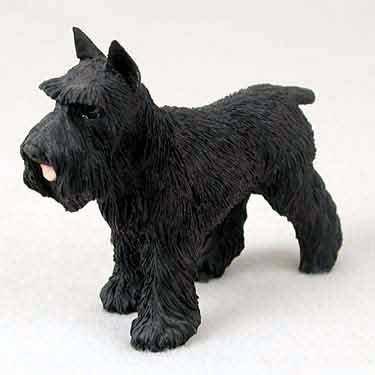 Schnauzer Dog Figurine - Black