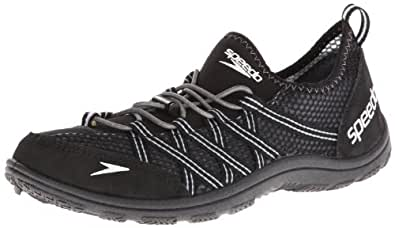 Speedo Men's Seaside 3.0 Lace Amphibious Pull On Water Shoe,Black,7 M US