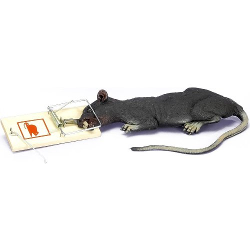 Forum Novelties Wiggling Rat in Trap (Battery Operated) -