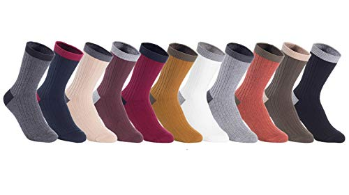 - Lian LifeStyle Women's 4 Pairs Combed Cotton Socks HR1751 Casual Size 6-9 (Assorted)