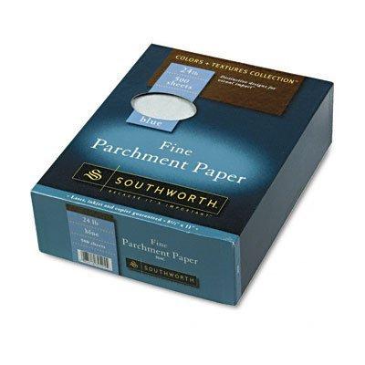 (~:~ SOUTHWORTH COMPANY ~:~ Colors + Textures Fine Parchment Paper, Blue, 24#, 8-1/2 x 11, 500 per Box by SouthworthÃÂ'Ã'®)