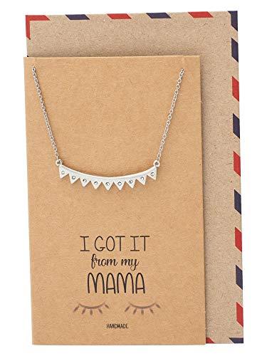 - Quan Jewelry Lash Necklace, Diamond Shaped Triangle with Swarovski Crystal, Owl Jewelry, Eyelash Necklace, Handmade with Quote Card