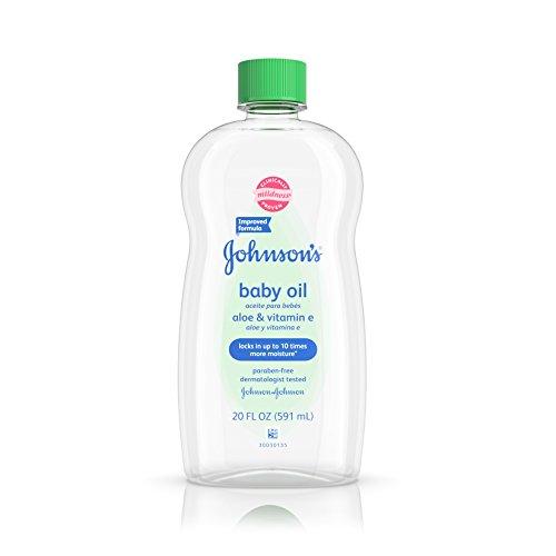 Johnson's Baby Oil With Aloe Vera & Vitamin E For Dry Skin, 20 Oz. (Pack of 6)