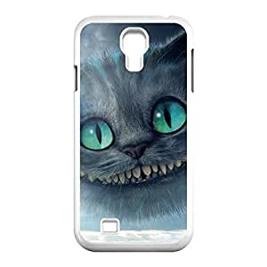 Innovation Design Cheshire Cat Quotes We Are All Mad Here Skidproof Printed Hard Snap-On case cover for Samsung Galaxy S4 I9500 -White030901